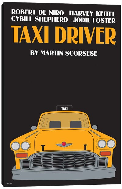 Taxy Driver Canvas Art Print