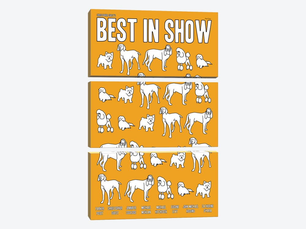 Best In Show by Claudia Varosio 3-piece Canvas Wall Art