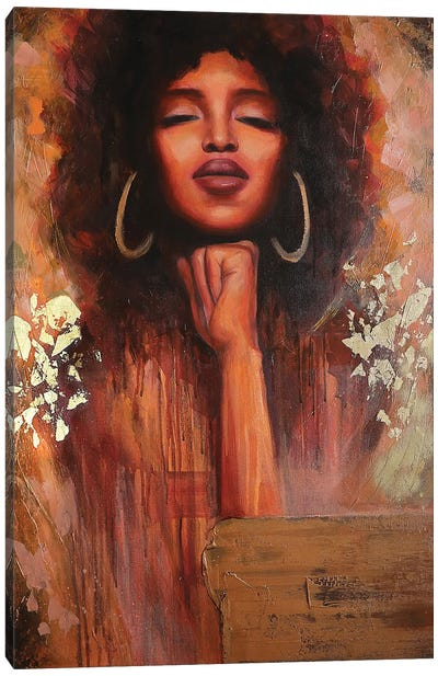 Golden Queen Canvas Art Print