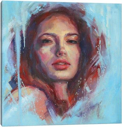 Woman In Sky Canvas Art Print