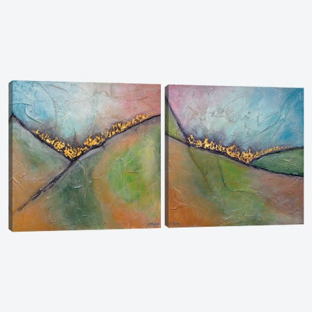 Golden Valley Diptych Canvas Print Set #VSM2HSET001} by Vanessa Sharp Multon Canvas Print