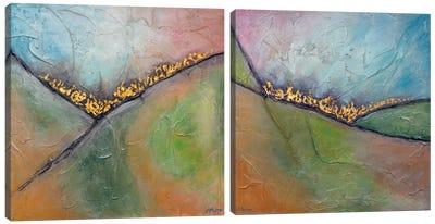 Golden Valley Diptych Canvas Art Print