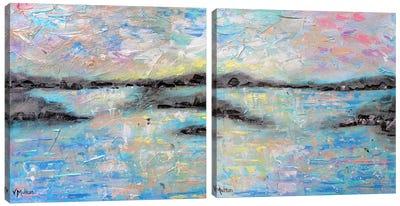 Salt Summer Diptych Canvas Art Print