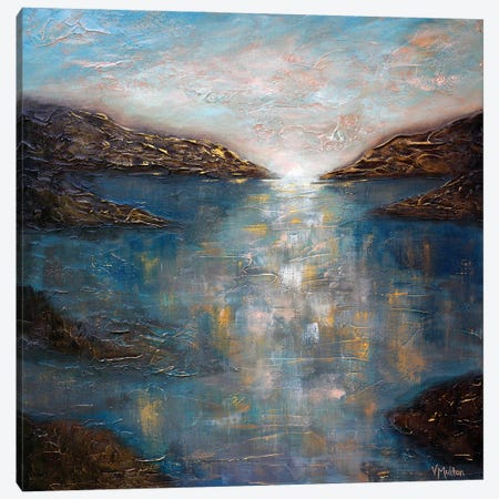 Sapphire Waters Canvas Print #VSM30} by Vanessa Sharp Multon Canvas Wall Art