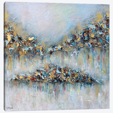 Whisper On The Water I Canvas Print #VSM37} by Vanessa Sharp Multon Canvas Art Print