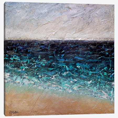 By The Shore Canvas Print #VSM7} by Vanessa Sharp Multon Art Print