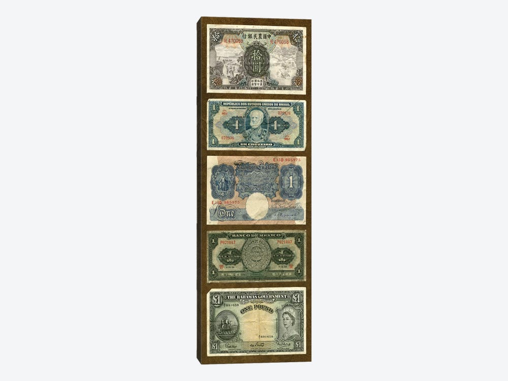 Foreign Currency Panel II by Vision Studio 1-piece Canvas Art