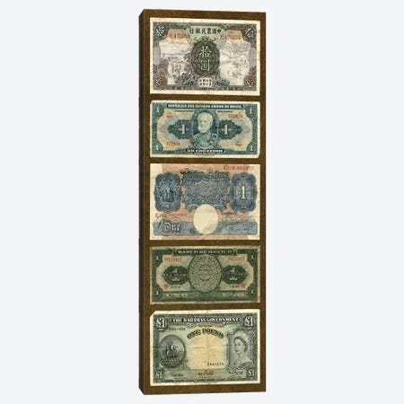 Foreign Currency Panel II Canvas Print #VSN102} by Vision Studio Art Print