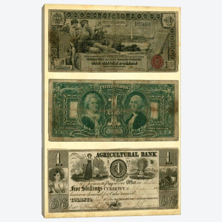 Antique Currency V Canvas Print #VSN103} by Vision Studio Canvas Print
