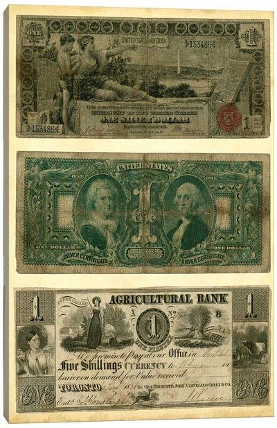 Antique Currency V Canvas Art Print