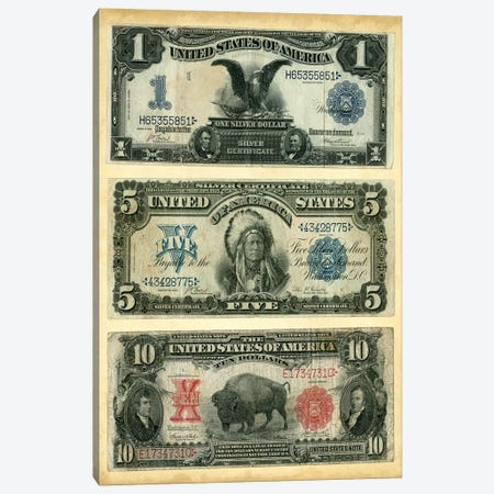 Antique Currency VI Canvas Print #VSN104} by Vision Studio Canvas Artwork