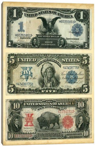Antique Currency VI Canvas Art Print