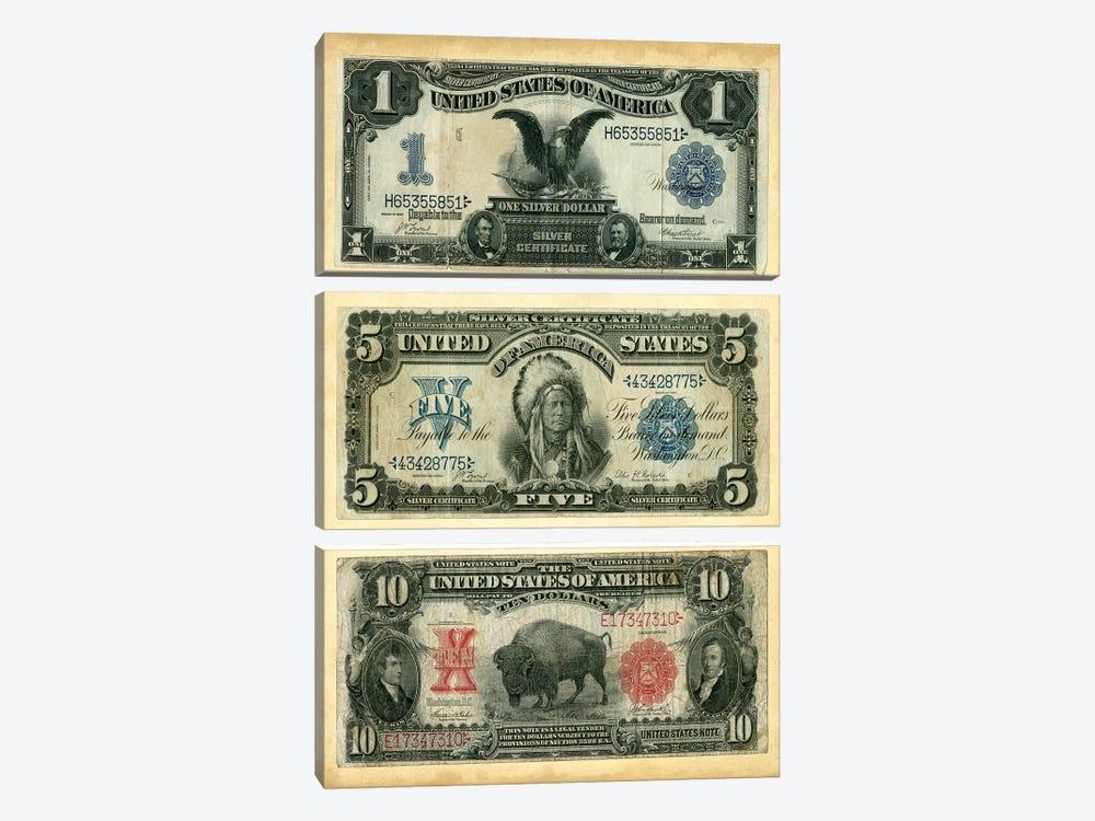 Antique Currency VI by Vision Studio 3-piece Canvas Art