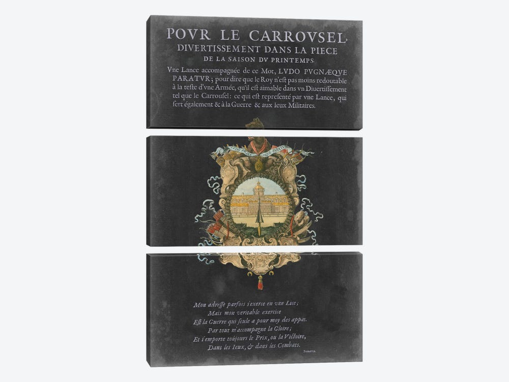 Vintage Bookplate IV by Vision Studio 3-piece Canvas Art Print