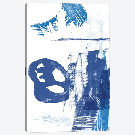 Blue Scribbles I Canvas Print #VSN139} by Vision Studio Canvas Wall Art