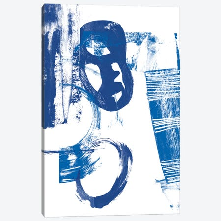 Blue Scribbles II Canvas Print #VSN140} by Vision Studio Art Print