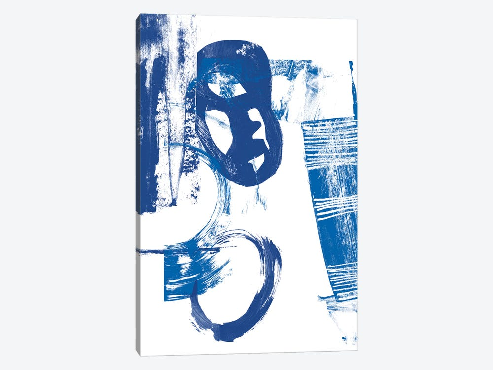 Blue Scribbles II by Vision Studio 1-piece Canvas Wall Art