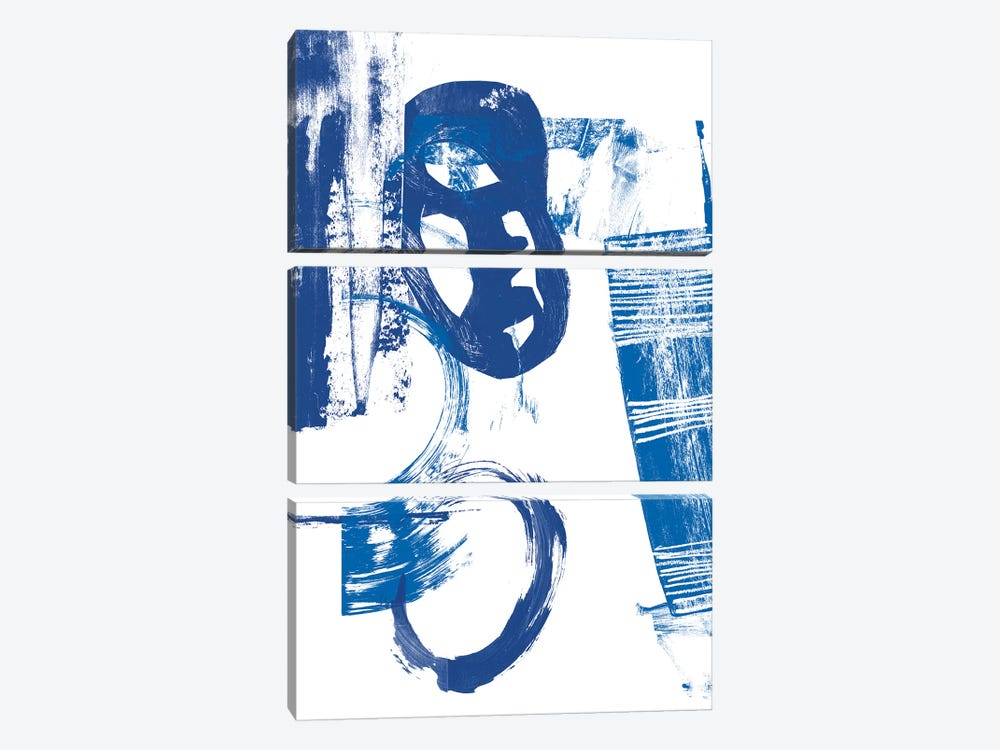 Blue Scribbles II by Vision Studio 3-piece Canvas Wall Art