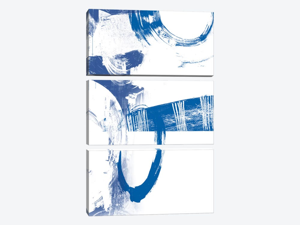 Blue Scribbles III by Vision Studio 3-piece Canvas Print