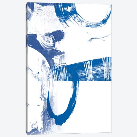 Blue Scribbles III Canvas Print #VSN141} by Vision Studio Canvas Art Print