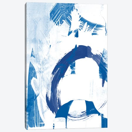 Blue Scribbles IV Canvas Print #VSN142} by Vision Studio Canvas Print