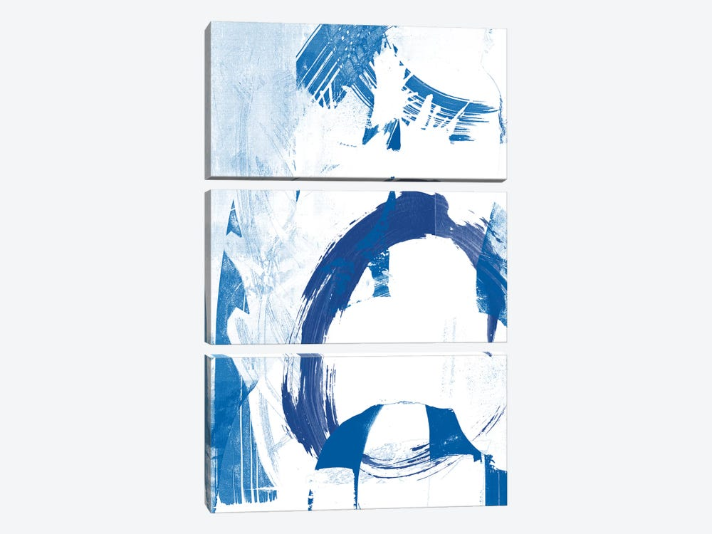 Blue Scribbles IV by Vision Studio 3-piece Canvas Artwork