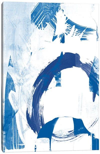 Blue Scribbles IV Canvas Art Print