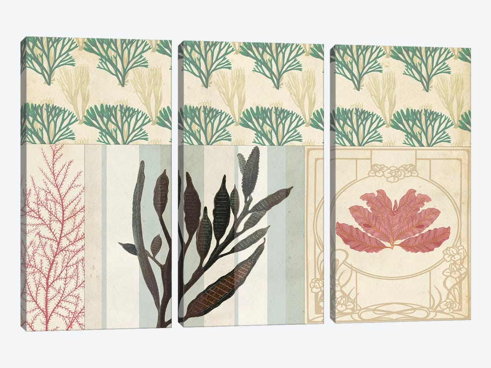Coastal Patternbook III by Vision Studio 3-piece Canvas Print
