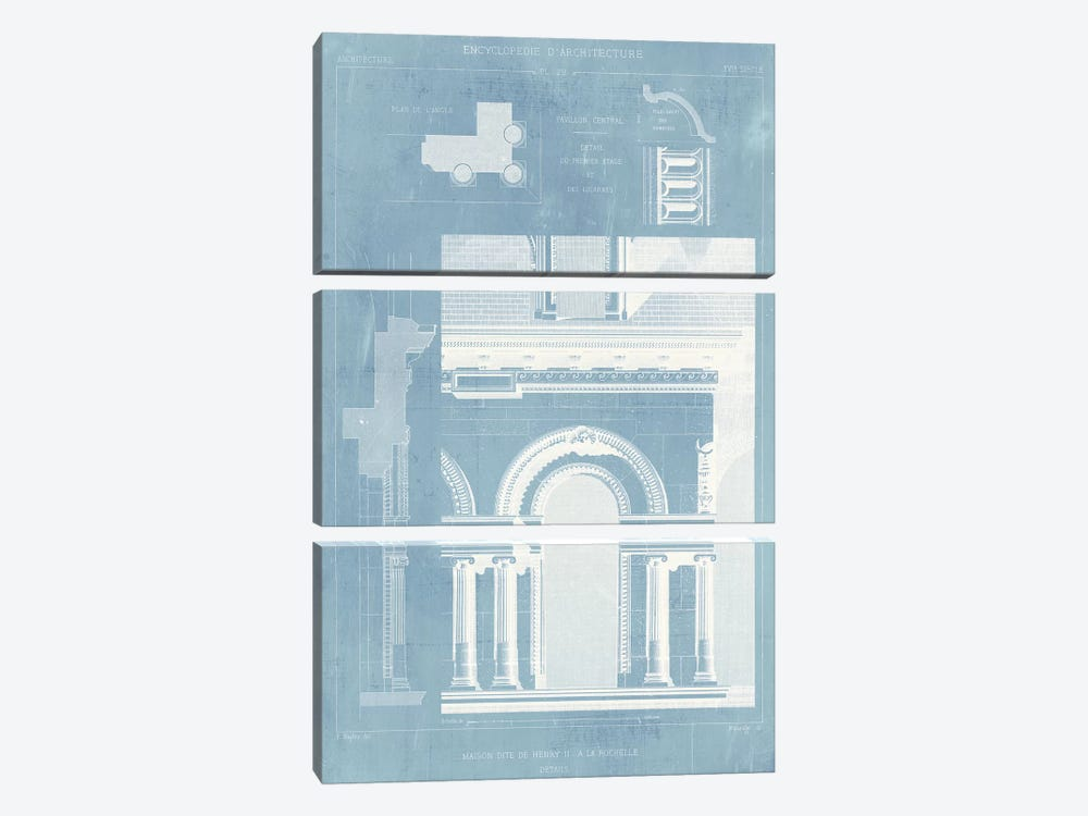 Details of French Architecture I by Vision Studio 3-piece Canvas Print