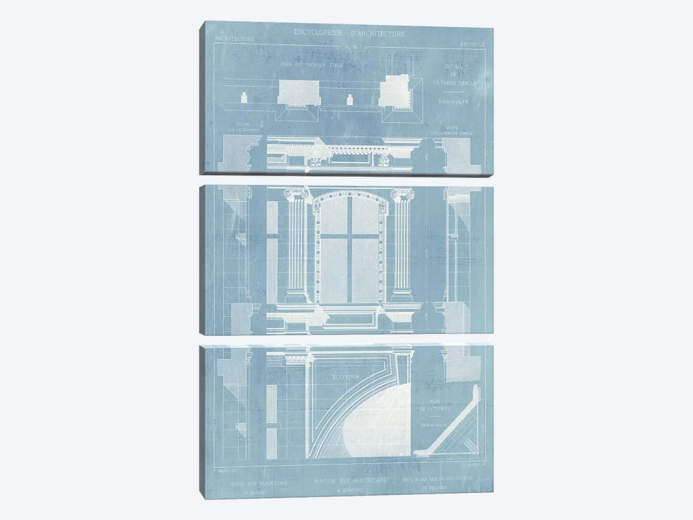 Details of French Architecture II by Vision Studio 3-piece Canvas Print