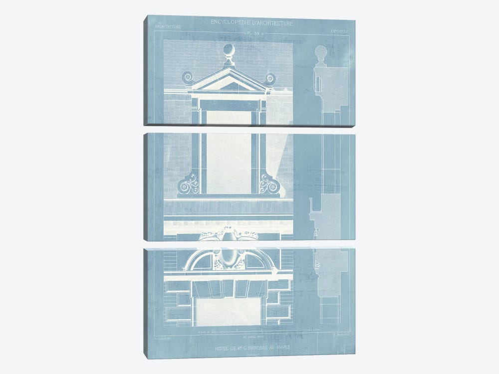 Details of French Architecture III by Vision Studio 3-piece Canvas Artwork