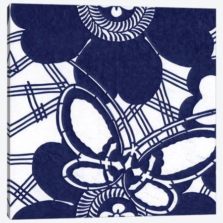 Indigo Floral Katagami I Canvas Print #VSN184} by Vision Studio Canvas Wall Art