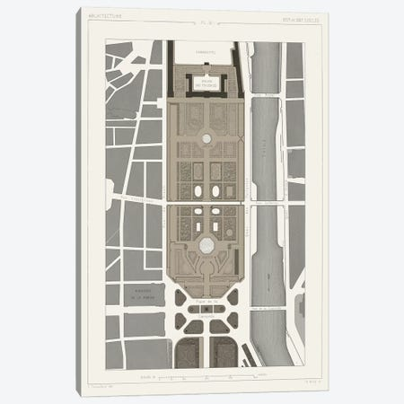 Palais des Tuileries, Paris I 3-Piece Canvas #VSN187} by Vision Studio Canvas Artwork