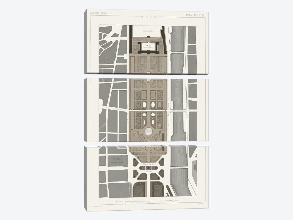 Palais des Tuileries, Paris I by Vision Studio 3-piece Canvas Print