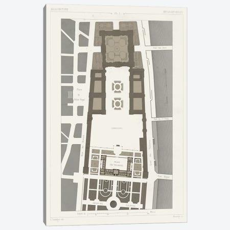 Palais des Tuileries, Paris II Canvas Print #VSN188} by Vision Studio Canvas Art Print