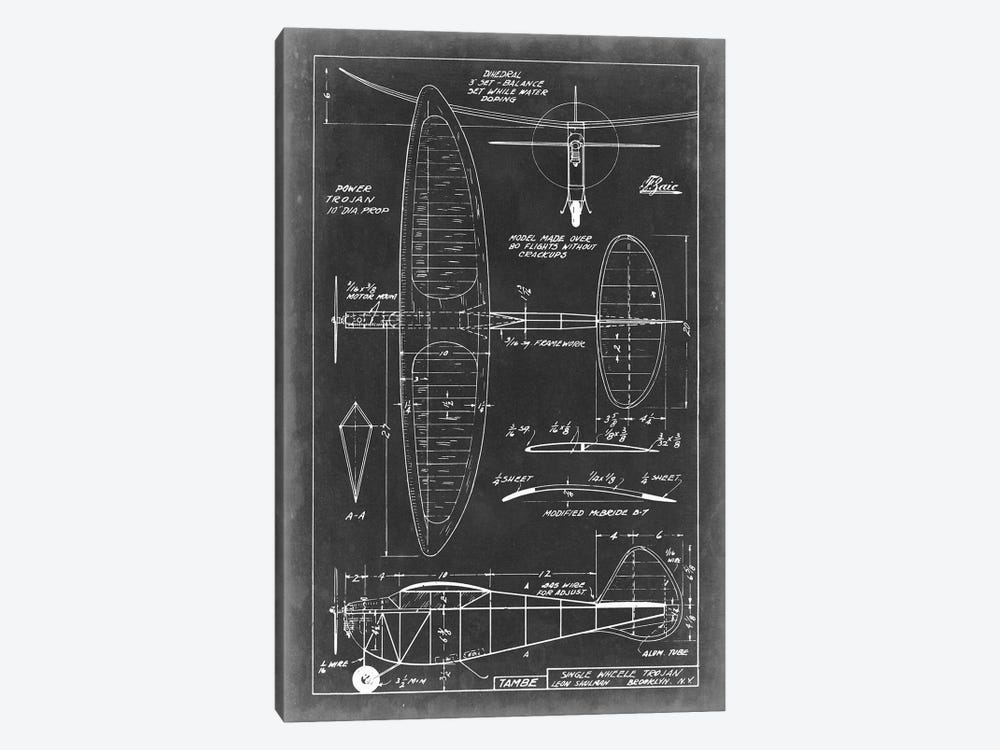 Aeronautic Blueprint I by Vision Studio 1-piece Art Print