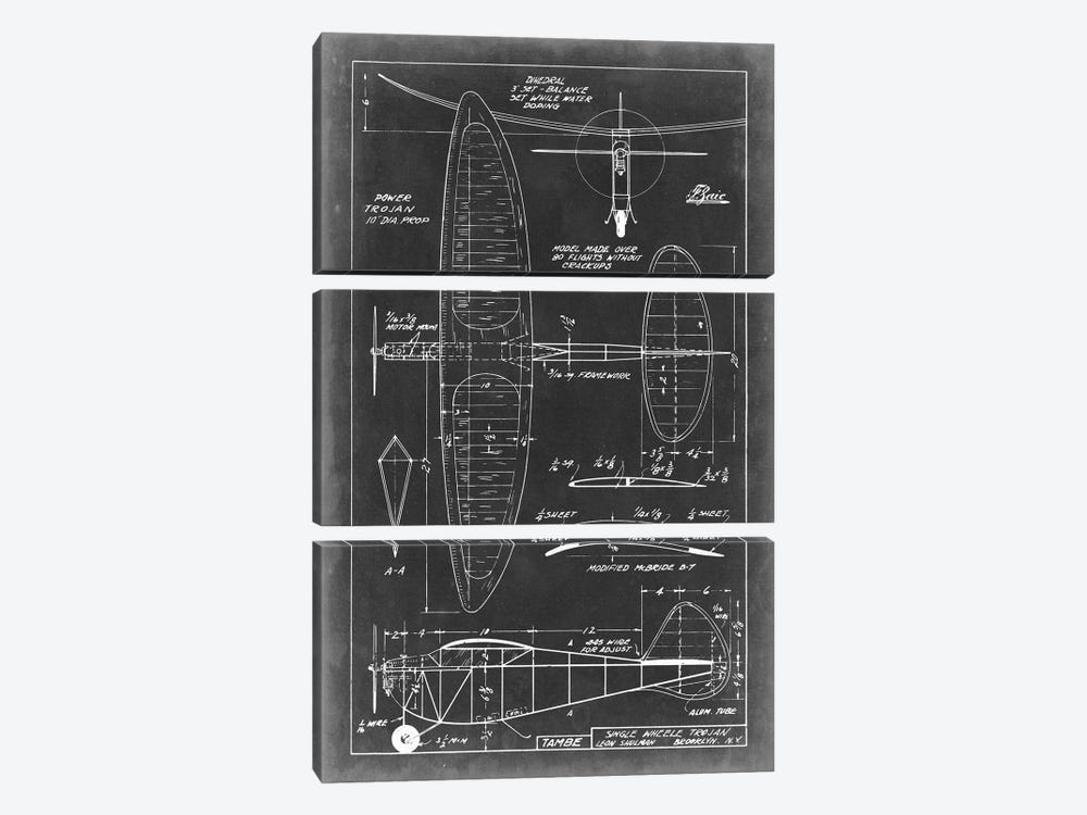 Aeronautic Blueprint I by Vision Studio 3-piece Art Print