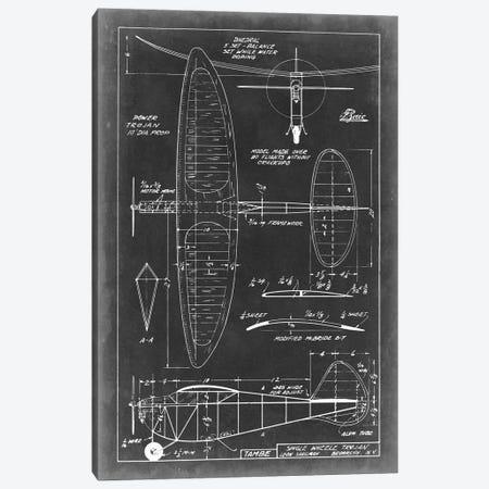 Aeronautic Blueprint I Canvas Print #VSN1} by Vision Studio Canvas Art Print