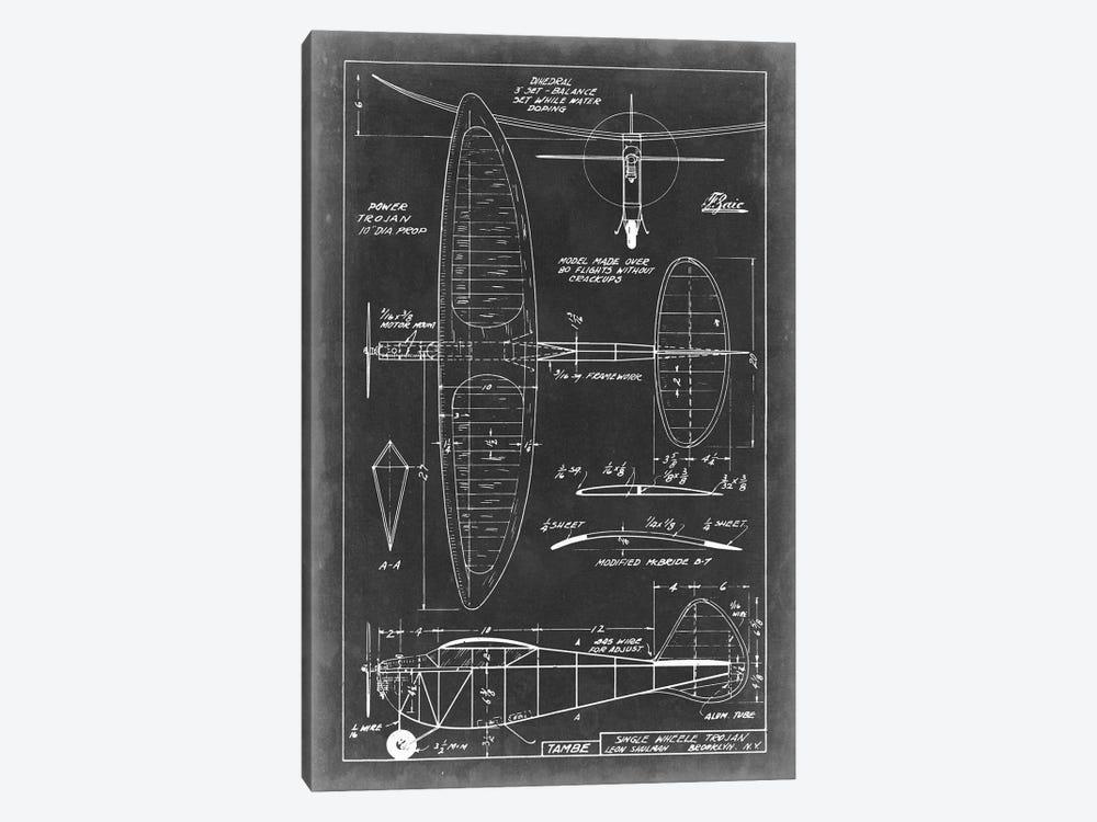 Aeronautic Blueprint I by Vision Studio 1-piece Art Print
