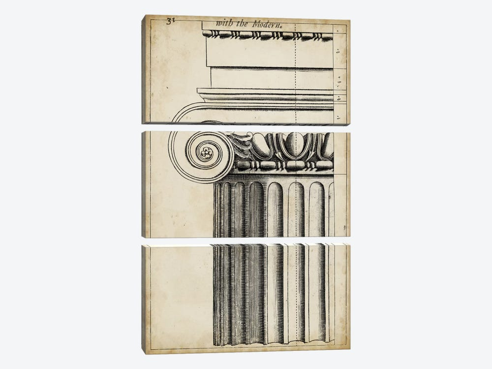 Architectural Composition I by Vision Studio 3-piece Canvas Art