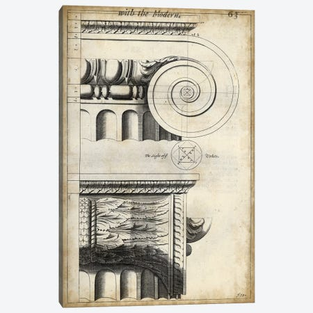 Architectural Composition II Canvas Print #VSN207} by Vision Studio Art Print