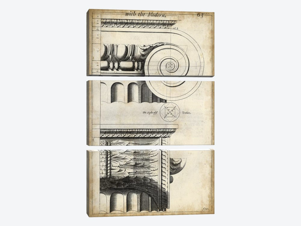 Architectural Composition II 3-piece Art Print
