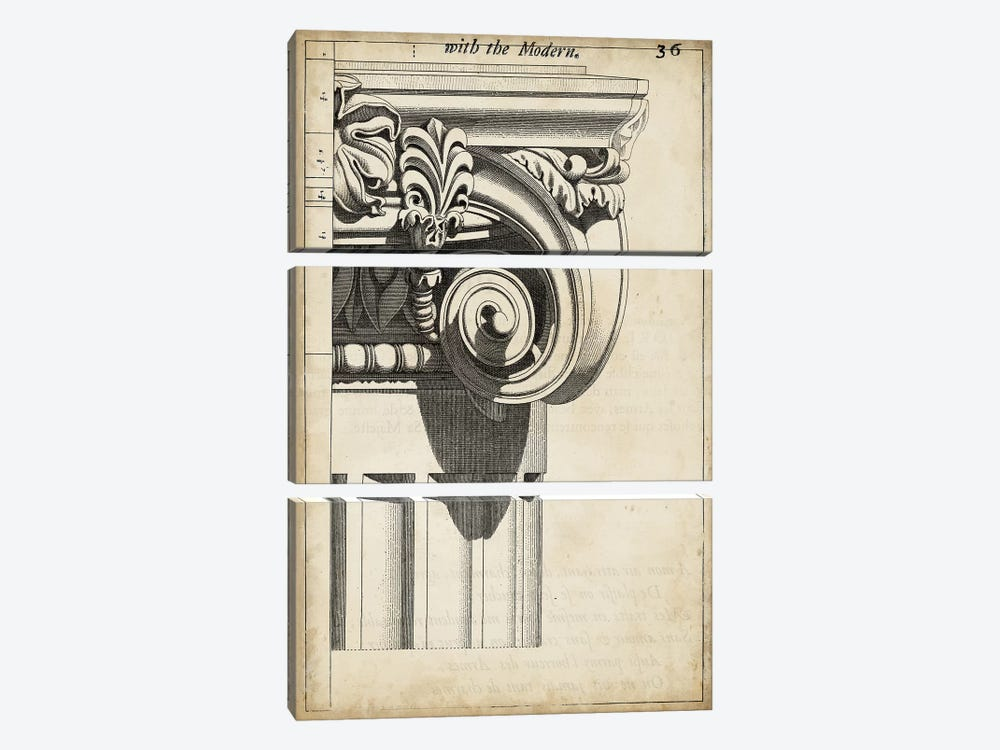 Architectural Composition III by Vision Studio 3-piece Canvas Wall Art