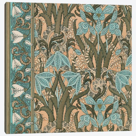 Nouveau Textile Motif I Canvas Print #VSN217} by Vision Studio Canvas Artwork