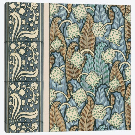 Nouveau Textile Motif IV Canvas Print #VSN220} by Vision Studio Canvas Art
