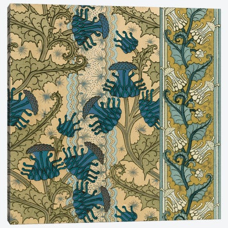Nouveau Textile Motif VI Canvas Print #VSN222} by Vision Studio Canvas Artwork