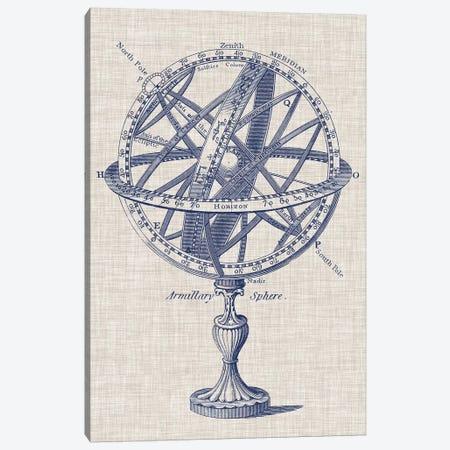 Armillary Sphere on Linen I Canvas Print #VSN236} by Vision Studio Canvas Artwork