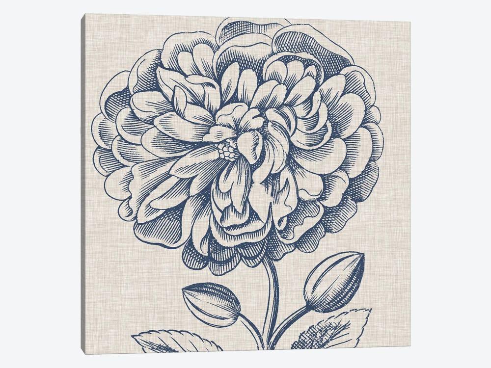 Indigo Floral on Linen III by Vision Studio 1-piece Art Print
