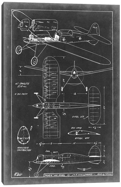 Aeronautic Blueprint II Canvas Art Print