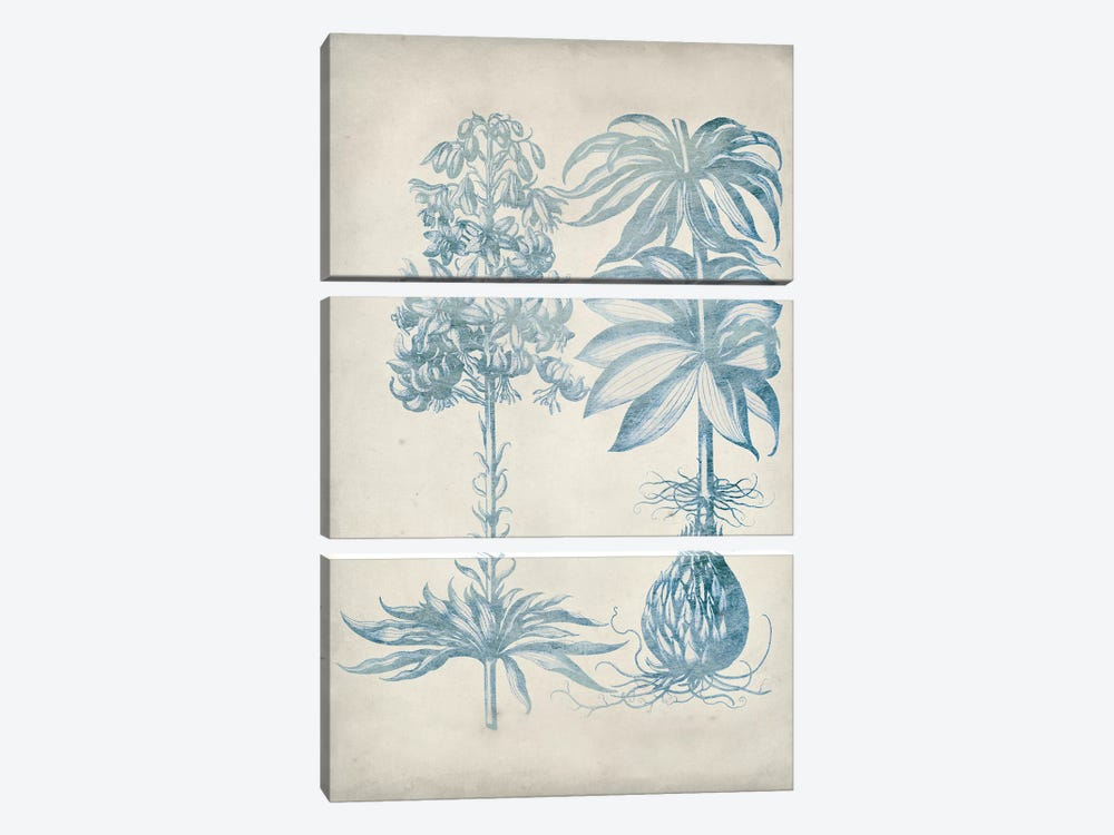 Blue Fresco Floral I 3-piece Canvas Artwork